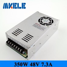 MS-350-48 ac dc single output 7.3a 350w 48vdc switching power supply smps mini size with CE certification