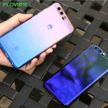 FLOVEME Luxury Blue Ray Gradient Case For Huawei P9 P10 Lite P10 plus Case Ultra Slim Transparent Phone Cover For Huawei Mate 9(China)