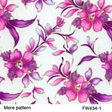Free Shipping width 50cm FW434-1 5Sqm purple flower pattern hydrographic films water transfer film(China)
