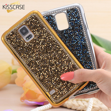 KISSCASE For Galaxy S5 S6 S7 Edge Crystal Cover Women Full Body Rhinestone Diamond Phone Case For Samsung Galaxy S5 I9600 S6