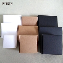 50pcs- (40-95mm) Blank kraft paper aircraft box white black paper DIY boxes for tea jewelry candy handmade soap gift package