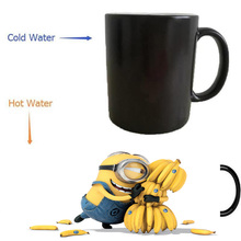 minion despicable me mugs coffee mug heat changing color Heat reveal mugs magic transforming beer(China)
