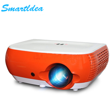 2017 New Arrival 2200lumens W1 Portable LED 3D Home Cinema Projector Value Money Personal Proyector Beamer HDMI USB VGA AV SD(China)