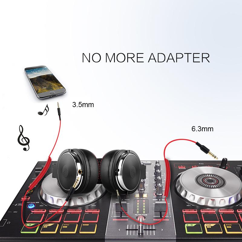 Wired Headphones with Mic Professional Studio Headphones 4