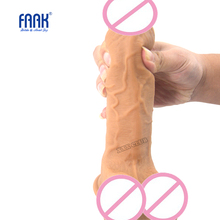 "Buy FAAK Skin feel silicone realistic dildo horse soft huge penis suction 1.93"" big dick sex toys women masturbate sex shop"