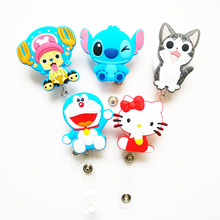 60cm Cartoon Silicone Retractable Reel for Bus Credit Card Holder PY023(China)