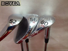 "Brand New 3PCS Boyea Left Hand SM5 Wedges Satin Golf Wedge Golf Clubs 52""/56""/60"" Degree Steel Shaft With Head Cover"