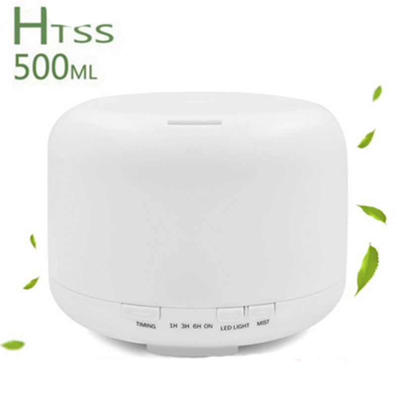 500ml Ultrasonic Humidifier Fogger Aromatherapy Diffuser Essential Oils Nebulizer Timer Settings LED Aroma Lamp <br>