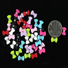 2016 new arrival 45pcs Mix Color Bow Tie Acrylic 3D Rhinestone Nail Art UV Gel Tips Decoration 3d nail stiker lot