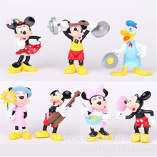 Cartoon Anime Mickey Mouse and Donald Duck PVC Action Figure Collectible Model Toy Automotive Decoration 7-8cm 7pcs/set CSM10(China)