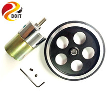 Original DOIT One Set Accessory for Robot Car Chassis with 1pcs 95mm Metal Wheel +1 pcs 37# Motor + Screw +Tool phi 6mm diy toy
