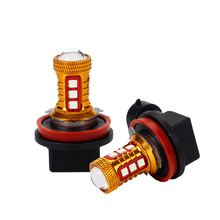 OKEEN 2pcs Fog lights for car 3030 led 15SMD DC12V to 30V  H1 H3 H8 H11 9005 9006 880 881 socket white/red/yellow colour