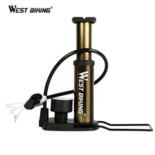 WEST BIKING BIKE Foot Activated Floor Pump With Gauge Cycle Air Pump Mini Portable Portable 160pai Bike Bicycle Tire Floor Pump(China)