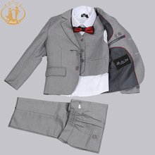 Nimble suit for boy Single Breasted boys suits for weddings costume enfant garcon mariage boys blazer jogging garcon blue grey(China)