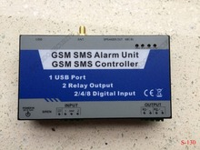 10pcs/lot Intelligent gsm sms remote control system S130 GSM Controller, GPRS Telemetry Data Logger 2 Dry contact