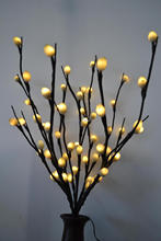 "LED Battery Pussy Willow Branch Light 20"" 60LED Warm White with Pussy Willow Deocation Wedding table decoration t"