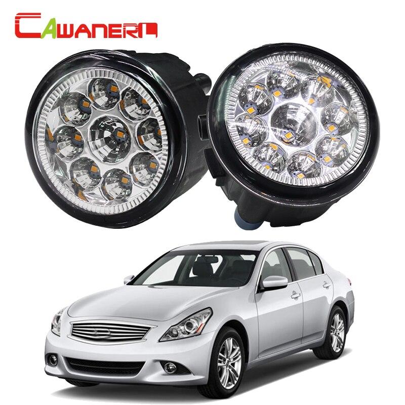 Cawanerl H8 H11 Car Fog Light LED Light Daytime Running Light 12V DC White Blue Orange 1 Pair For Infiniti G37 3.7L V6 2008-2012<br>