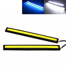 2x 17CM Car LED COB DRL Daytime Running Light Waterproof DC12V External Led Car Light Source Parking Fog Bar Lamp White Blue