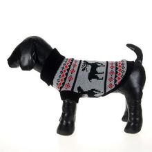 Trendy Small Dog Pet Cat Sweater Christmas Deer Knitwear Coat Clothes Apparel Tops(China)