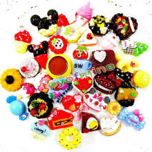 October Dessert!! 20pcs/lot Mix Cute Kawaii Food, Resin Flatback Cabochons for Phone Deco, Scrapbooking
