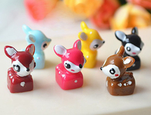 20PCS 16x11mm deer toys High Quality Antique tiny deer Resin Cabochon pendants or for Grass Bottle Decoration(China)