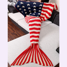 Christmas Sweaters Adult Stylish Knitting Sleeping Clothes Fish Mermaid Tail Design Striped Star Pattern Sofa Clothes