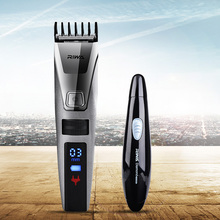 Riwa Original brand Fast Rechargerable Hair Clipper Men LCD Electric Hair Cutting Machine K3 +Nose Ear Trimmer shaver Cutter S34(China)