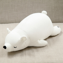 30cm Polar Bear Plush Toy Stuffed Animal White Bear Plush Foam Partical Doll for Kids & Girls Soft Toys with Bamboo charcoal