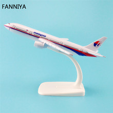 16cm Alloy Metal Airplane Model Air Malaysia Airlines Boeing 777 B777 MH17 9M-MRD Airways Plane Model W Stand Aircraft(China)