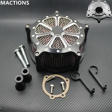 4 Hole Black And Chrome Air Filters Motorcycle CNC Crafts Air Cleaner Filter For Harley Softail Touring Dyna Models