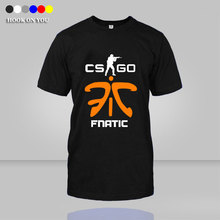 Fnatic T Shirt DOTA 2 CS CSGO Counter Strike fnatic Print Men T-Shirt Game Team cotton O Neck camisetas top tees(China)