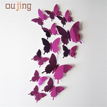 My House 2017 Wall Stickers Decal Butterflies 3D Mirror Wall Art Home Decors New arrivals Free Shipping 0015