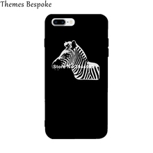 Trendy Zebra Animal Case for iPhone 7 7Plus 6 6Plus Ultra Thin Back Cover Case Cheap Funny TPU for iPhone Print Protective Shell(China)