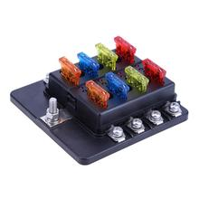 32V 100A Automobiles Car Boat 8-Way Circuit Standard ATO ATC Blade Fuse Box Block Holder Car Electrical Fuse Equipment