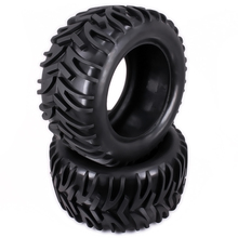 Natural Rubber Tire Tyre For Rc 1/10 Monster Truck Big Foot Truggy Hobby Car HSP Himoto HPI Traxxas Redcat Kyosho Wheel Rim(China)