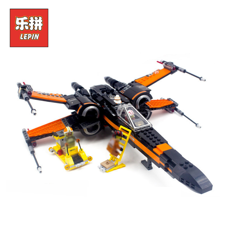 Lepin Building Blocks Bricks Stars Series War 75102 First Order Poes X Toy Wing Fighter Set DIY Toy Children Gift lepin 05004<br>