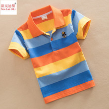 Buy High Qual kids summer Tshirt clothing boys t shirt short sleeve v-neck striped cotton clothes 2 4 6 8 10 12 14 years for $5.99 in AliExpress store