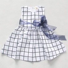 LOONGBOB Baby Plaid Princess Dresses Girl Chiffon Dress Infants Girl Clothes Newborn BEBE Sleeveless  Party Vest Dress Roupas