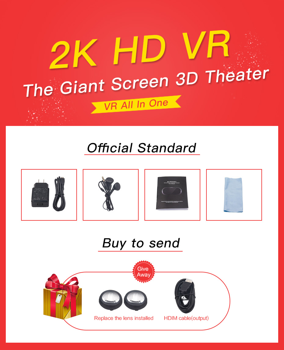 vr headset vr glasses virtual reality for pc HDMI All In One 3d glasses VM02-1