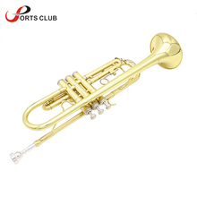 Exquisite Bb B Flat Trumpet High Quality Brass Trumpet with Mouthpiece Cleaning Brush Cloth Gloves Strap