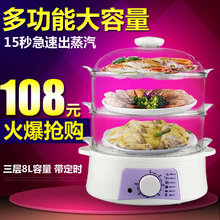 Dz750 multifunctional steamer large capacity double layer mini steamer electric heating pot(China)