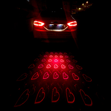 1set Direct Selling Rushed Universal Led Fog Lights Anti Collision Rear-end Car Laser Tail Auto Brake Parking Lamps Warning DD