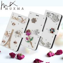 Buy Rhinestone Case Homtom HT30 Glitter Diamond Flip Wallet Leather Cover Flowers Crystal Card Slots Holder Stand Phone Cases for $6.99 in AliExpress store