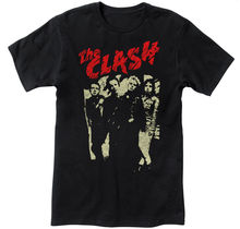 The Clash Men's Punk Rock Black T-shirt - NEW! - S M L XL 2XL 3XL Printed Round Men T Shirt Cheap Price Top Tee White(China)