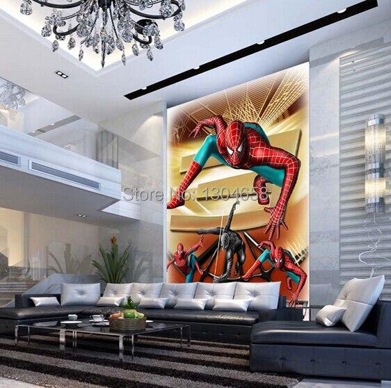 Custom children wallpaper, Spider Man cartoon murals for living room baby room dining room wall wallpaper PVC papel de parede<br>