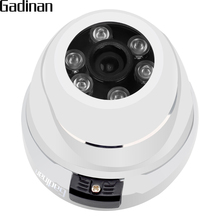 GADINAN ONVIF Metal Dome IP Network Camera Vandalproof 720P 960P 1080P Optional 6pcs Array Waterproof Outdoor/Indoor IP CCTV(China)