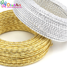 OLINGART 5M/lot 2.0mm Pattern Aluminum wire gold / silver soft craft versatile metal wire necklace DIY Handmade jewelry making