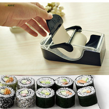 1PC Prefect Easy DIY Sushi Maker Roller Equipment Perfect Roll Mold Set for Making Roll-Sushi Box Kitchen Accessories OK 0248