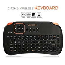 Viboton S1  Rechargeable 3-in-1 2.4GHz Wireless Keyboard + Air Mouse + 10 Meters Remote Control with Touchpad for Windows Linux