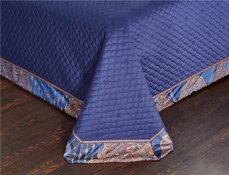Luxury Bedding Set, Silk Satin Jacquard Bedding Set, Queen, King, Duvet Cover,Bed Linen Flat Sheet Set 32